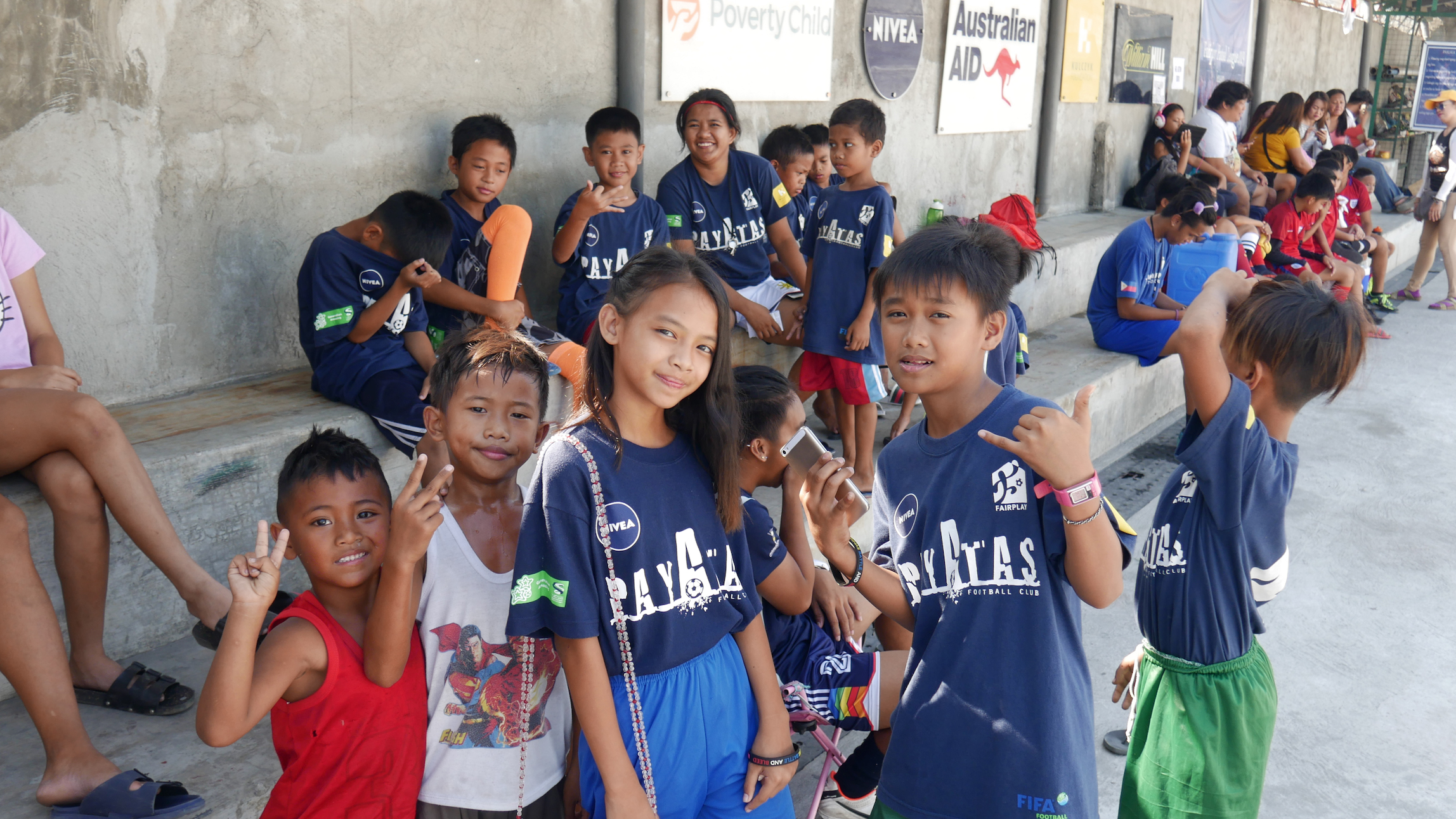 Children at Fairplay Sports Centre in Payatas