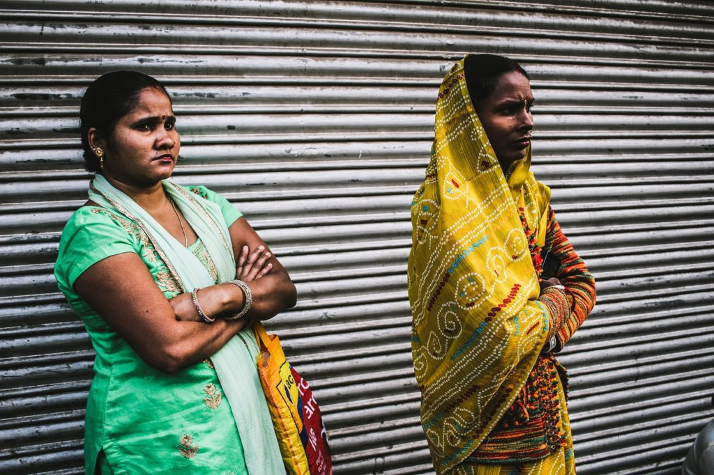 Two girls in India subject to child marriage