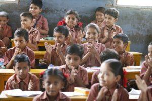 Happy children at school